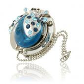 Ladybird Blue Crystal Hanger