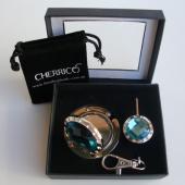 Mirror Aqua Crystal Gift Set
