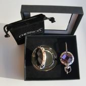 Mirror Purple Crystal Gift Set
