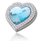 Love Shape Aqua Crystal