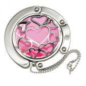 Heart Caged Pink Crystal Hook